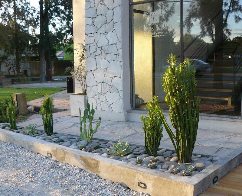 Jardines secos compatibles con plantas de otras latitudes - Jardines con cactus y piedras ...