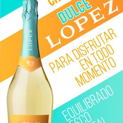Nuevo champagne López Dulce