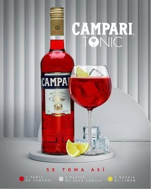 CAMPARI&TONIC una combinación versátil y refrescante